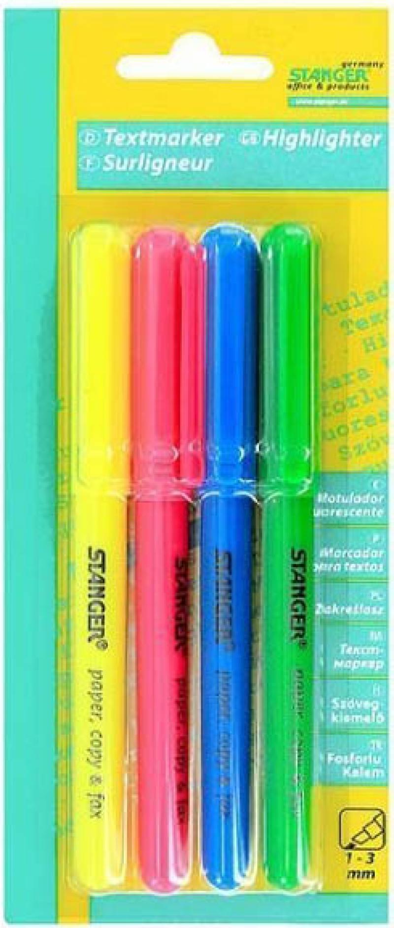 Набор текстмаркеров Stanger 18-00-99 1 мм 4 шт разноцветный 18-00-99 99 page 4