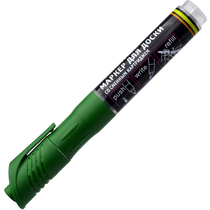 Маркер для доски Index IMWR101/GN 3 мм зеленый сменные чернила IMWR101/GN маркер для доски index двуцветный двусторонний черно зеленый imw101 bk gn