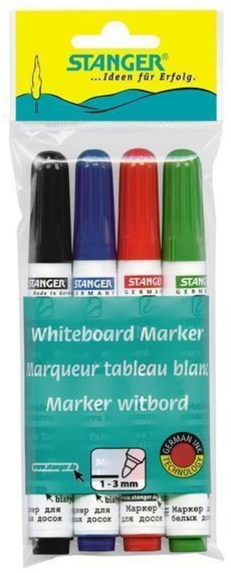 Маркер для доски Stanger BM240 3 мм 4 шт разноцветный 321002 321002 маркер для доски stanger bm240 3 мм 4 шт разноцветный 321002