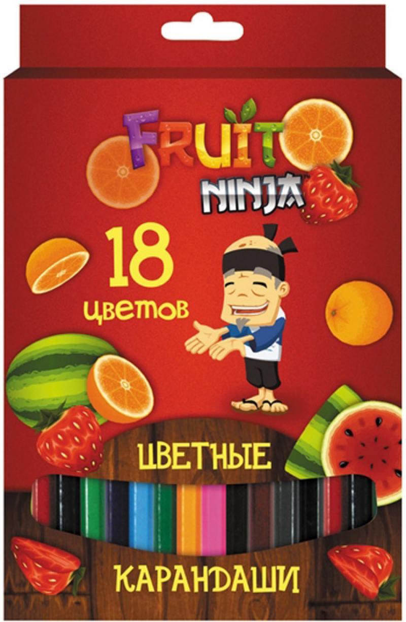 Набор цветных карандашей Action! Fruit Ninja 18 шт FN-ACP205-18 FN-ACP205-18 action цветные карандаши dragons 18 цветов dr acp205 18 голубой