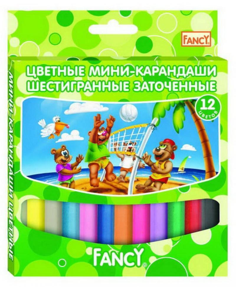 Набор цветных карандашей Action! Fancy 12 шт укороченные FCP121-12 набор цветных карандашей 12 шт
