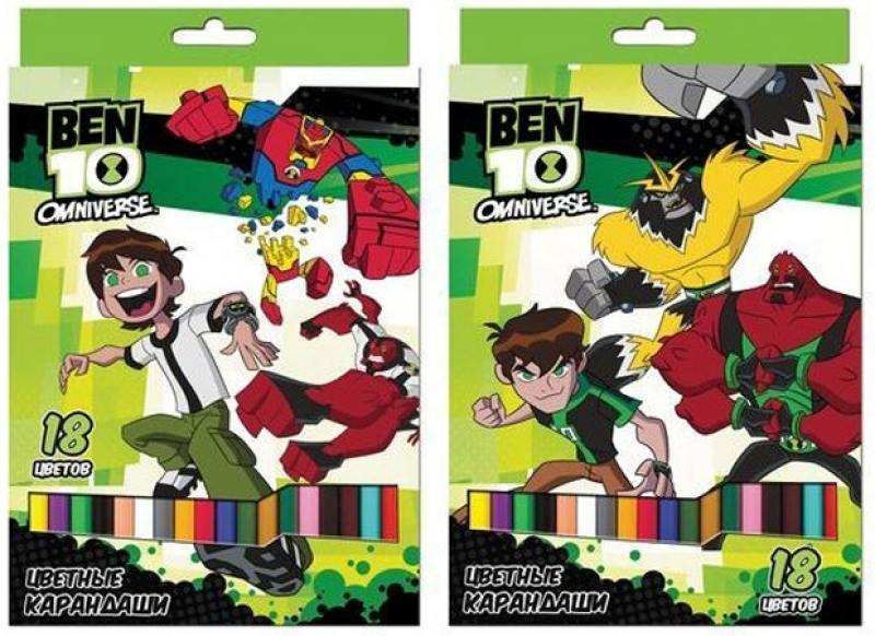 Набор цветных карандашей Action! BEN10 18 шт BT-ACP105-18 BT-ACP105-18 набор цветных карандашей action hello kitty 18 шт