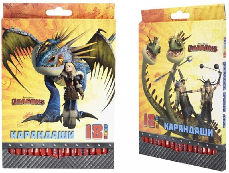 Набор цветных карандашей Action! Dragons 18 шт DR-ACP205-18 DR-ACP205-18 action цветные карандаши dragons 18 цветов dr acp205 18 голубой