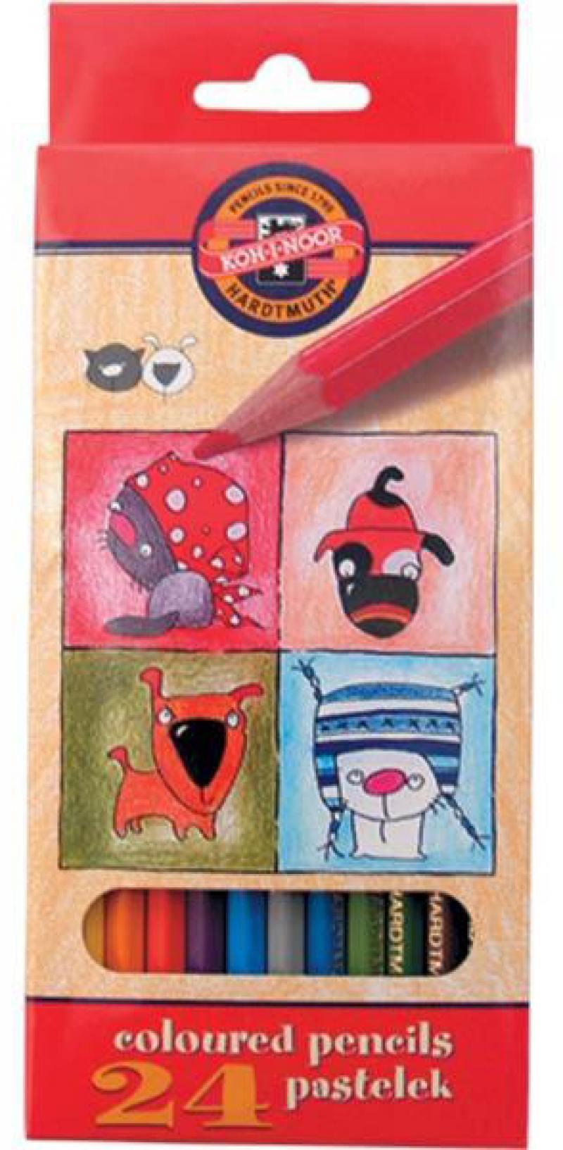 Набор цветных карандашей Koh-i-Noor Кошки+Собаки 24 шт односторонние 3594/24 5 KS 3594/24 5 KS набор цветных карандашей silwerhof 134206 24 народная коллекция 24 шт