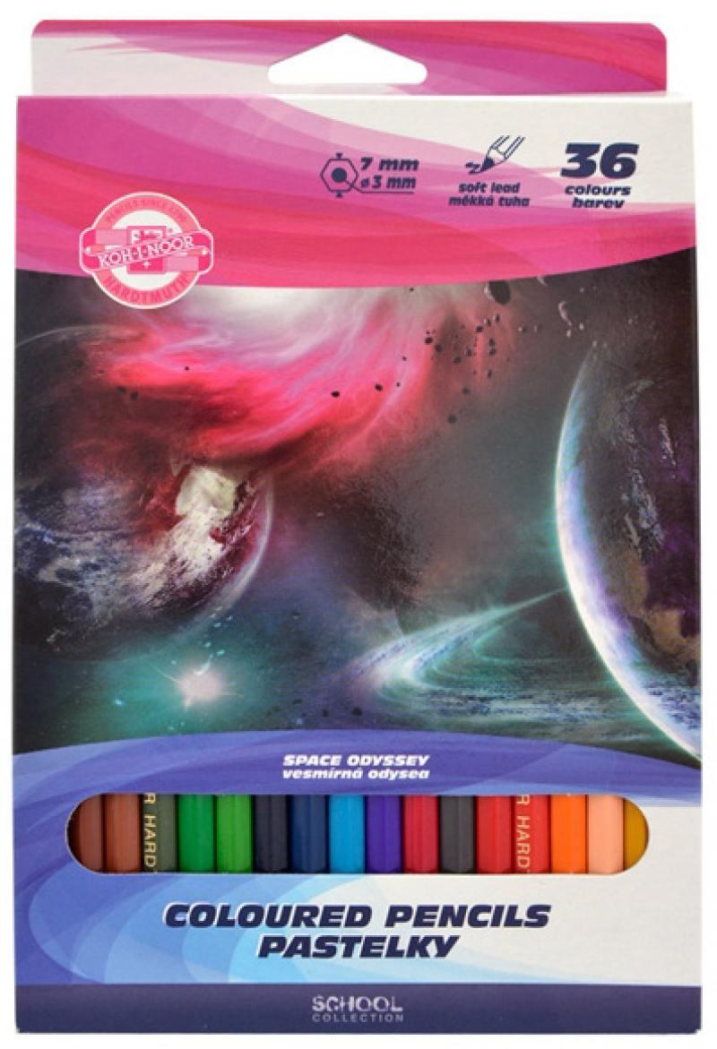 Набор цветных карандашей Koh-i-Noor Космос 36 шт 3655/36 28 KS 3655/36 28 KS недорго, оригинальная цена