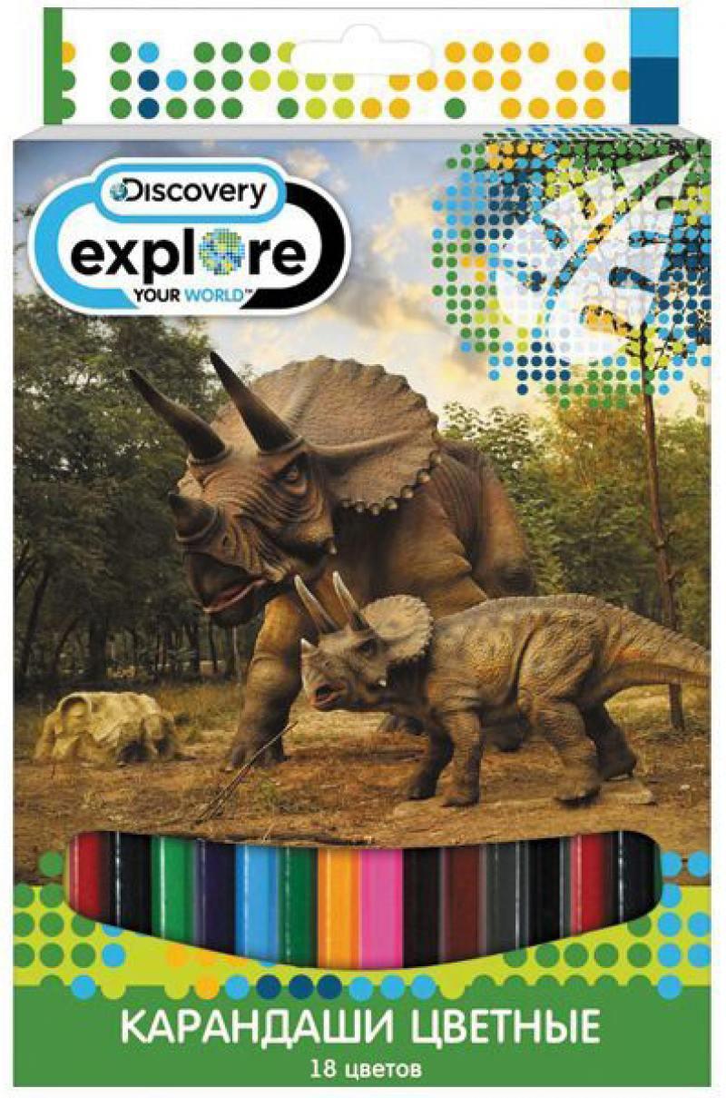Набор цветных карандашей Action! Discovery 18 шт DV-ACP105-18 DV-ACP105-18 набор цветных карандашей 18 шт