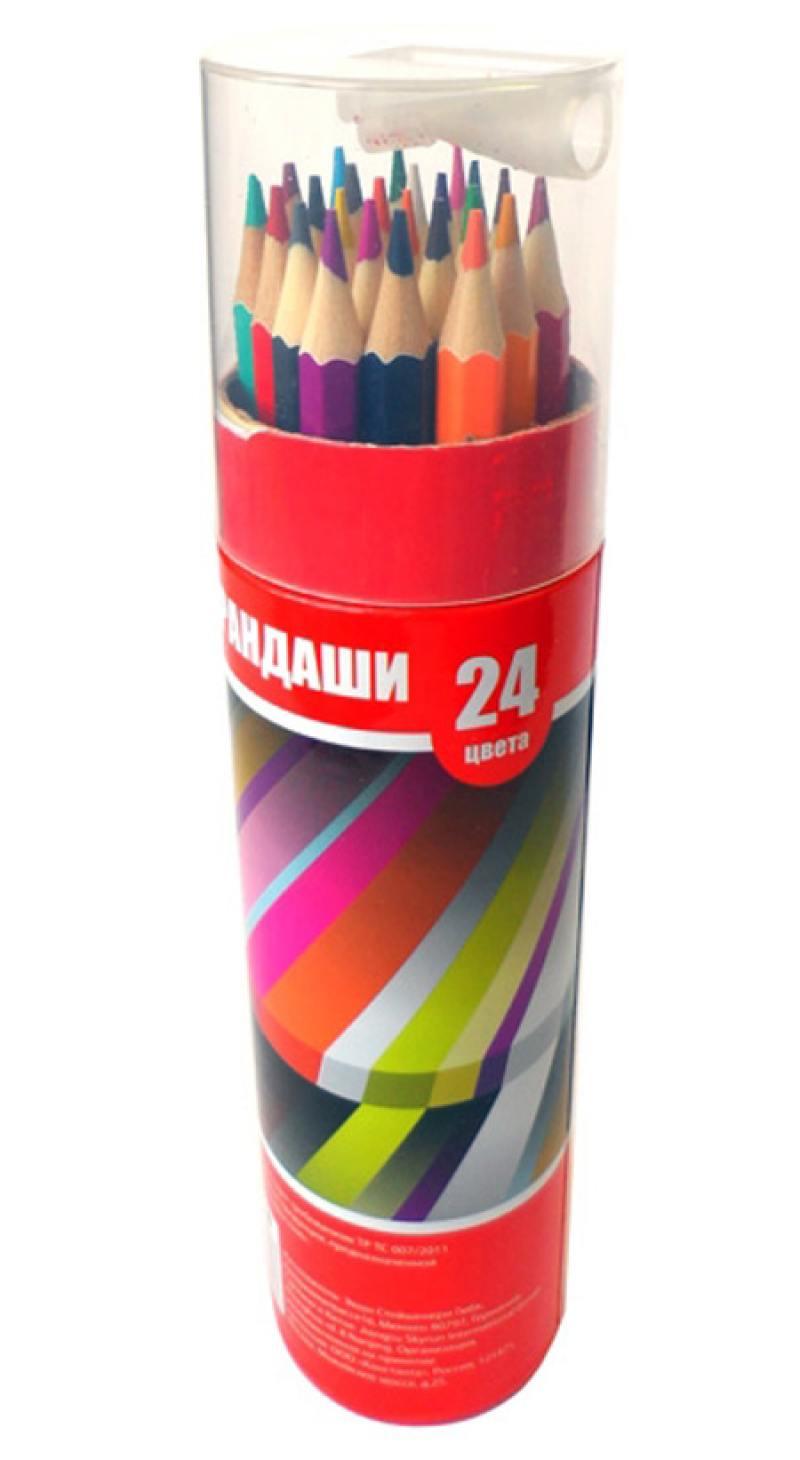 Набор цветных карандашей Action! ACP103-24 24 шт ACP103-24 набор цветных карандашей silwerhof 134206 24 народная коллекция 24 шт
