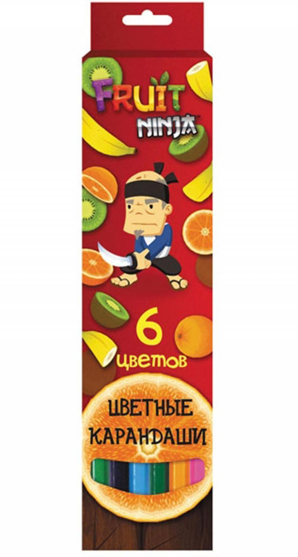 Набор цветных карандашей Action! Fruit Ninja 6 шт FN-ACP205-6 FN-ACP205-6