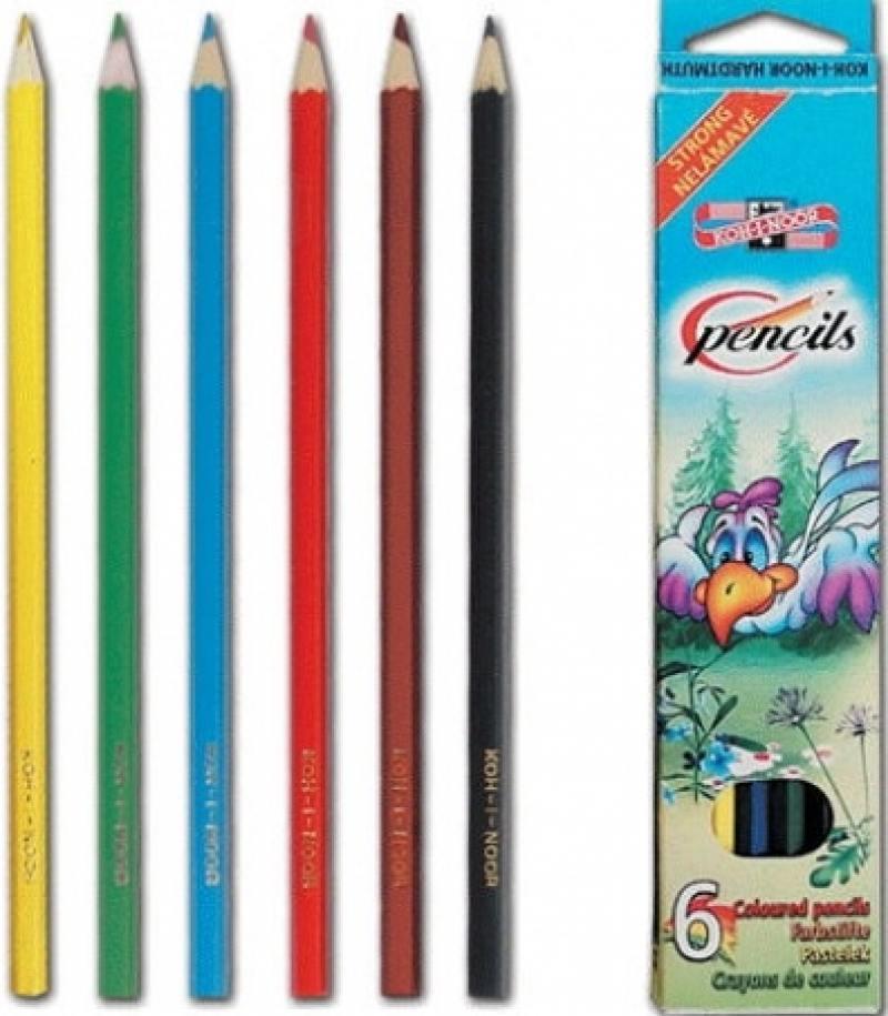 Набор цветных карандашей Koh-i-Noor 95482 6 шт 17.5 см 95482 набор цветных карандашей koh i noor света 6 шт 17 5 см 3651 6 27ks 3651 6 27ks