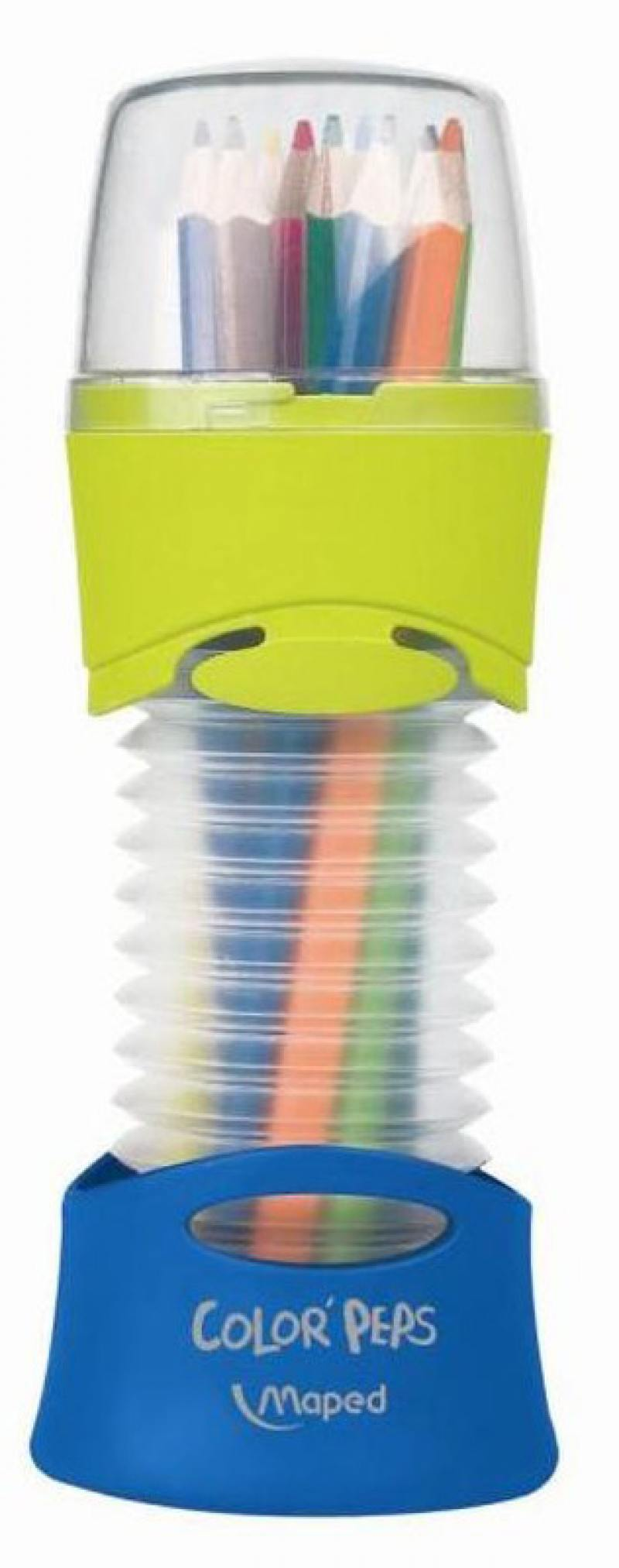 Набор цветных карандашей Maped Color Peps 12 шт 683212 в тубусе-подставке карандаши восковые мелки пастель maped карандаши color peps 12 цветов в тубусе подставке