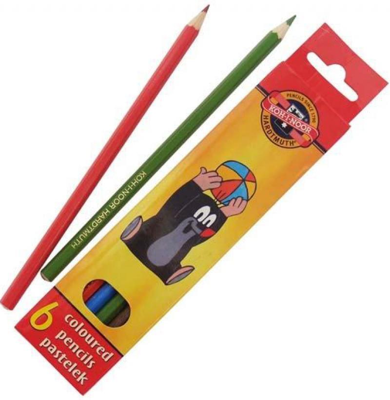 Набор цветных карандашей Koh-i-Noor Крот 6 шт односторонние 3651/6 26KS 3651/6 26KS набор свечей тигренок с подсолнухом 9х6 см 6 шт