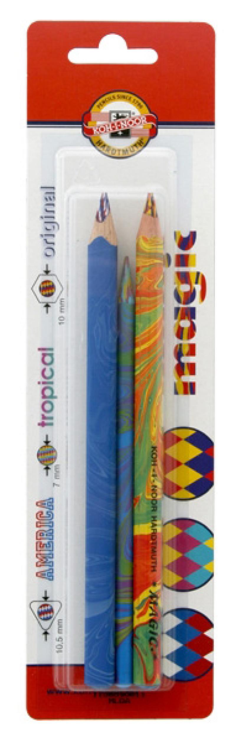Набор цветных карандашей Koh-i-Noor Magic 3 шт 9038 9038