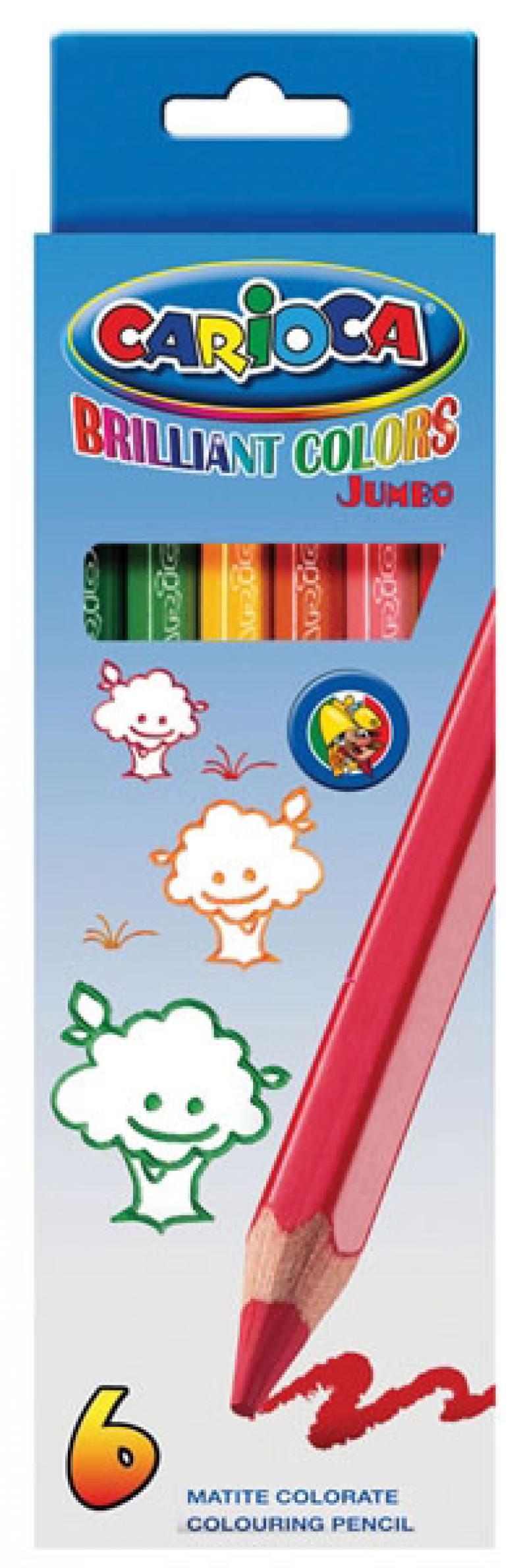 Набор цветных карандашей Universal Carioca Jumbo 6 шт односторонние 41407/6 41407/6 набор графитовых карандашей index i555 6 6 шт