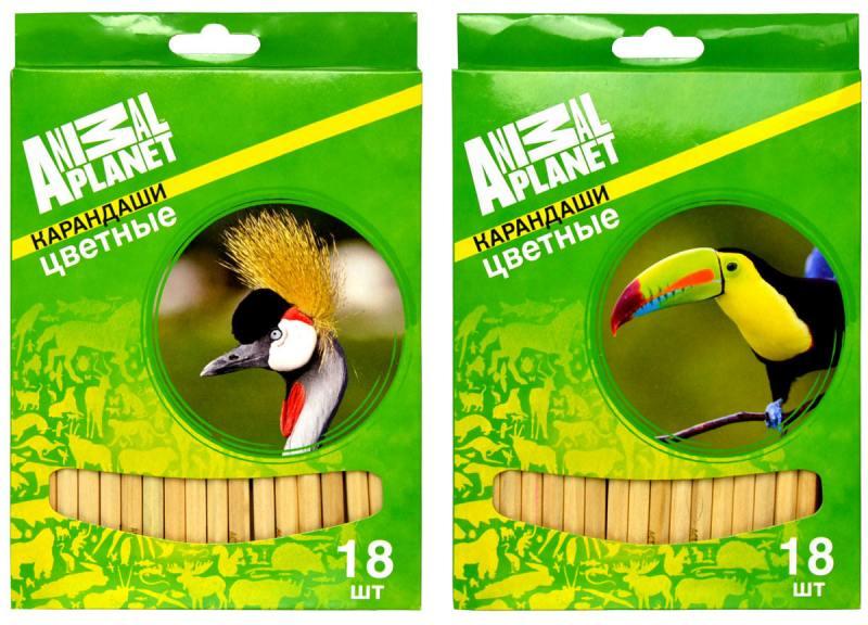 Набор цветных карандашей Action! Animal Planet 18 шт AP-ACP105-18 AP-ACP105-18 цены онлайн