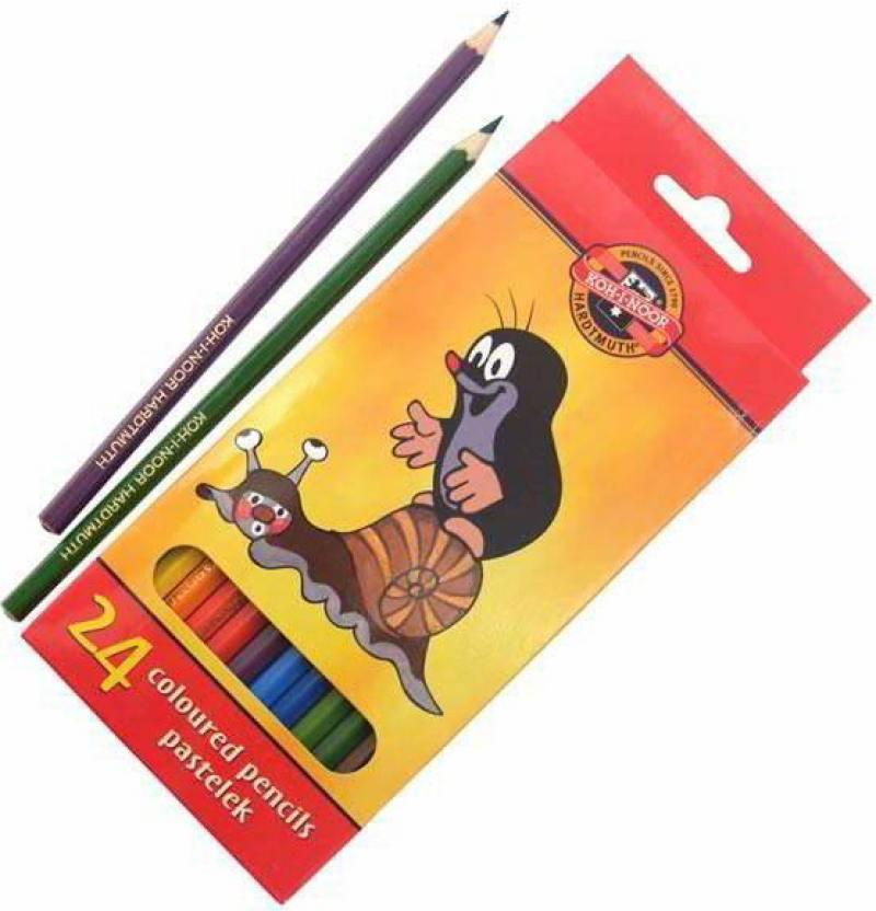 Набор цветных карандашей Koh-i-Noor КРОТ 24 шт 3654/24 26KS 3654/24 26KS набор цветных карандашей silwerhof 134206 24 народная коллекция 24 шт