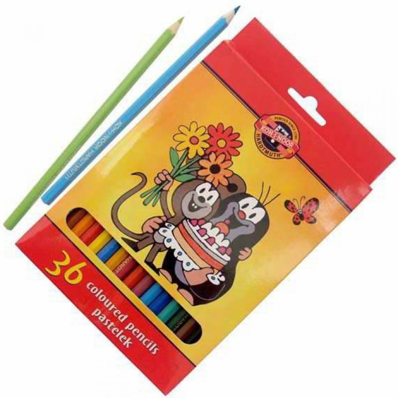 Набор цветных карандашей Koh-i-Noor КРОТ 36 шт 17.5 см 3655/36 26KS 3655/36 26KS недорго, оригинальная цена