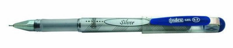 Гелевая ручка Index Silver синий 0.5 мм IGP103/BU