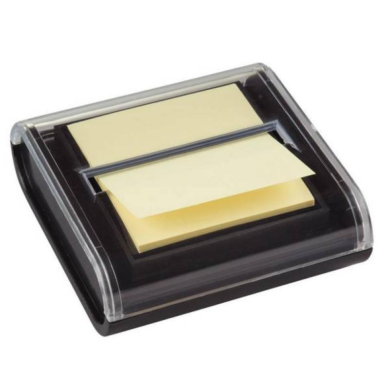 Диспенсер для бумаги для заметок Z-слож.POST-IT МИЛЛЕНИУМ,черный+1 блок 76х76мм, желтый,100 л. C2014 блок стикеров для заметок