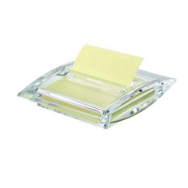 Диспенсер для бумаги для заметок с липким слоем Z-сложения 75х75 мм, прозрачный 564700