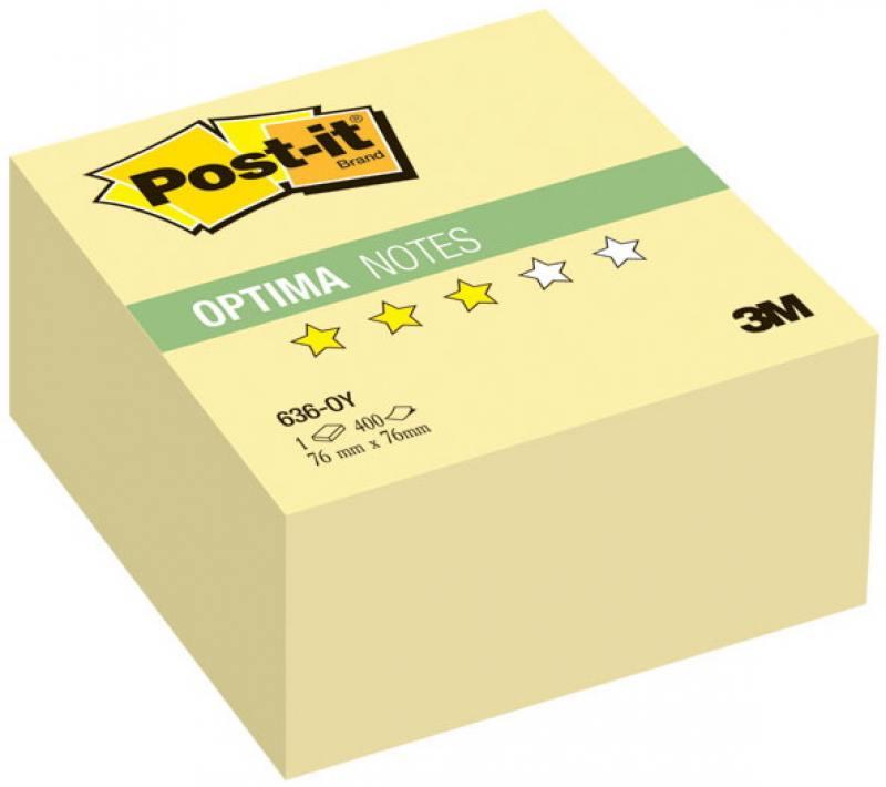 Бумага с липким слоем 3M 400 листов 76x76 мм желтый 636-OY цена и фото