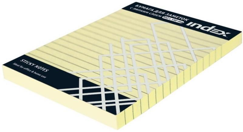 Бумага для заметок разлинованная с липким слоем, 100 листов, 102х150 мм, желтая I437808 brauberg бумага для заметок с липким слоем 7 6 х 7 6 см цвет зеленый 90 листов