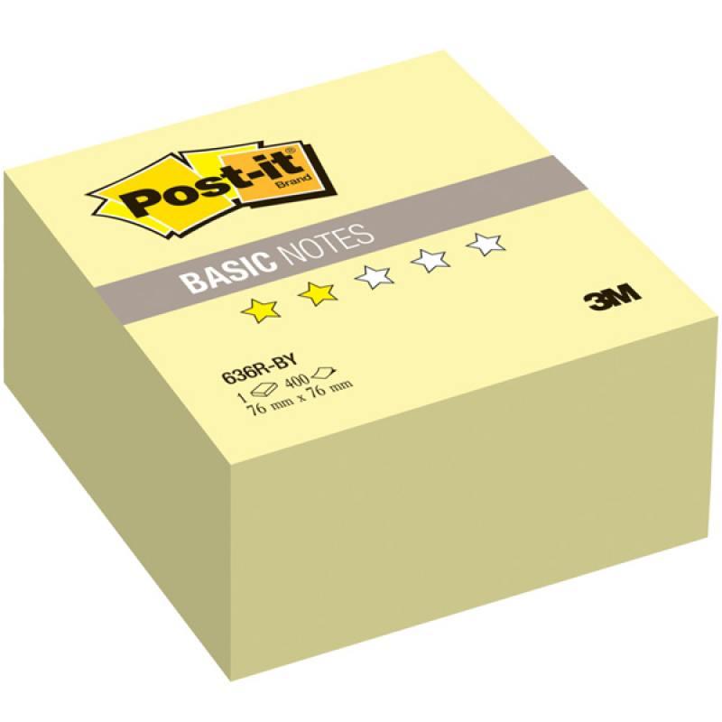 Бумага для заметок с липким слоем POST-IT BASIC, 76х76 мм, желтый, 400 л. настольная лампа marksloid 105772