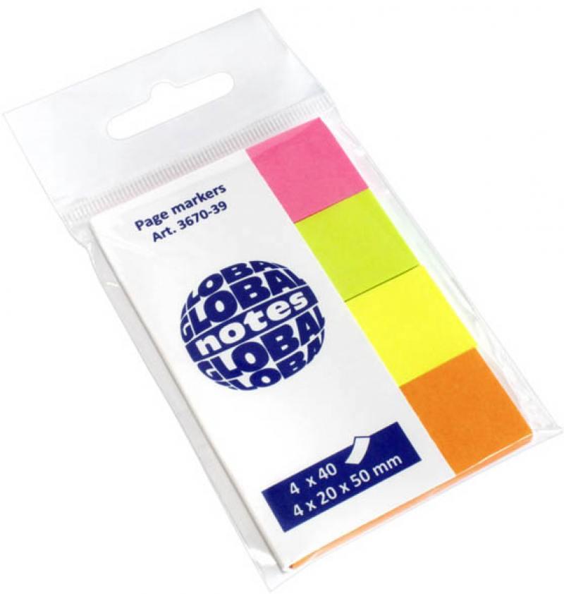 Стикер Global 160 листов 20x50 мм многоцветный 367039 стикер global 144 листа 12 5х43 мм многоцветный 773918