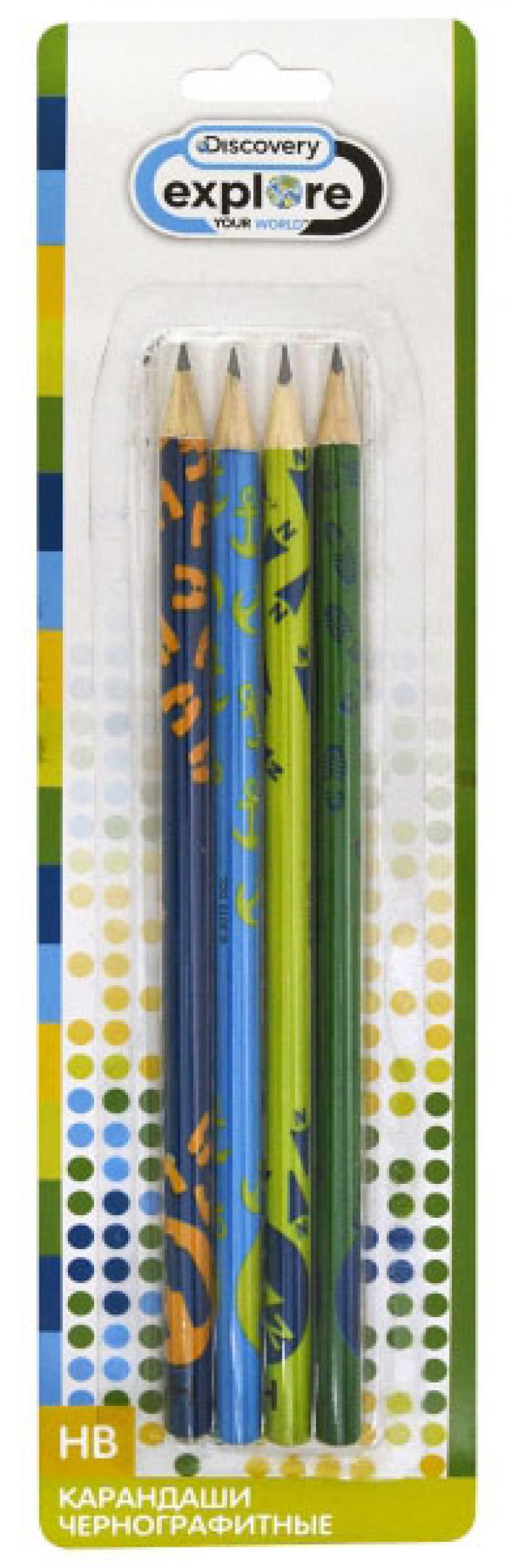Набор графитовых карандашей Action! Discovery 4 шт DV-ALP185/4 DV-ALP185/4 набор графитовых карандашей action pucca 4 шт pu alp115 4