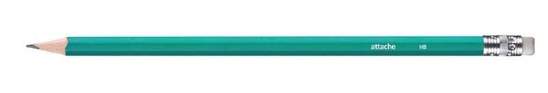 Карандаш графитовый Index I261 цветной корпус с ластиком I261