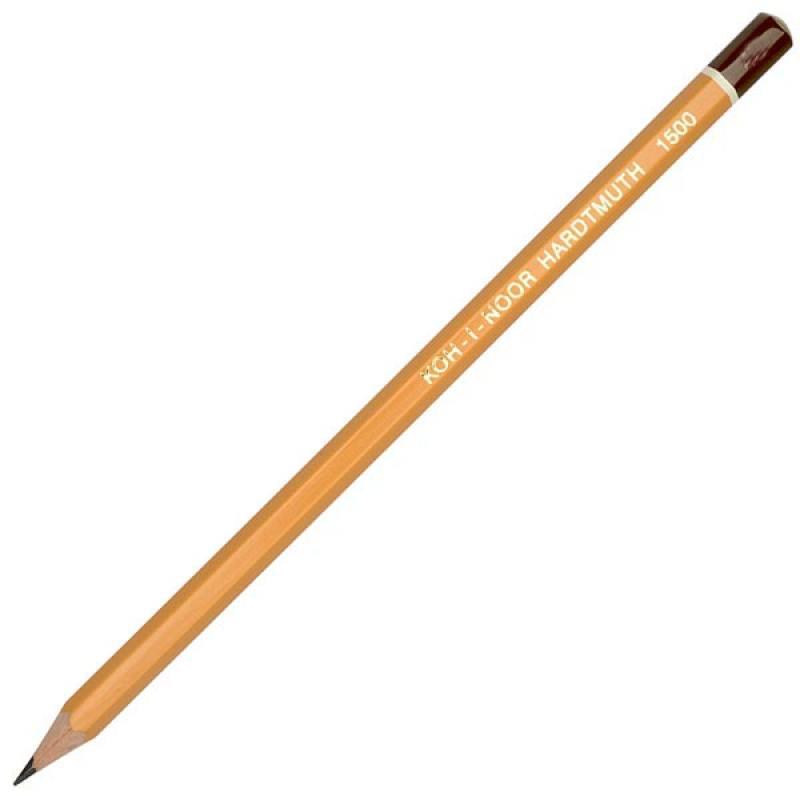 Карандаш чернографитный Koh-i-Noor 1500 6B деревянный лакированный корпус 1500 6B насос arderia cp3 20 6b