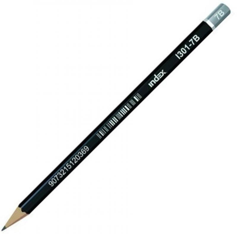 Карандаши чернографитные Index I301-7B 12 шт I301-7B наполнитель для фильтра eheim classic 250 поролон 2 шт
