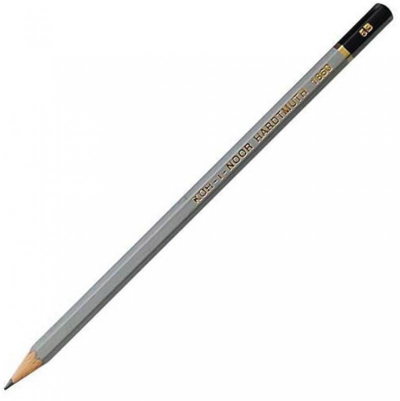 Карандаш чернографитный Koh-i-Noor Gold Star 1860/5B серый лакированный корпус 1860/5B карандаш чернографитный koh i noor 1696 лакированный корпус 1696