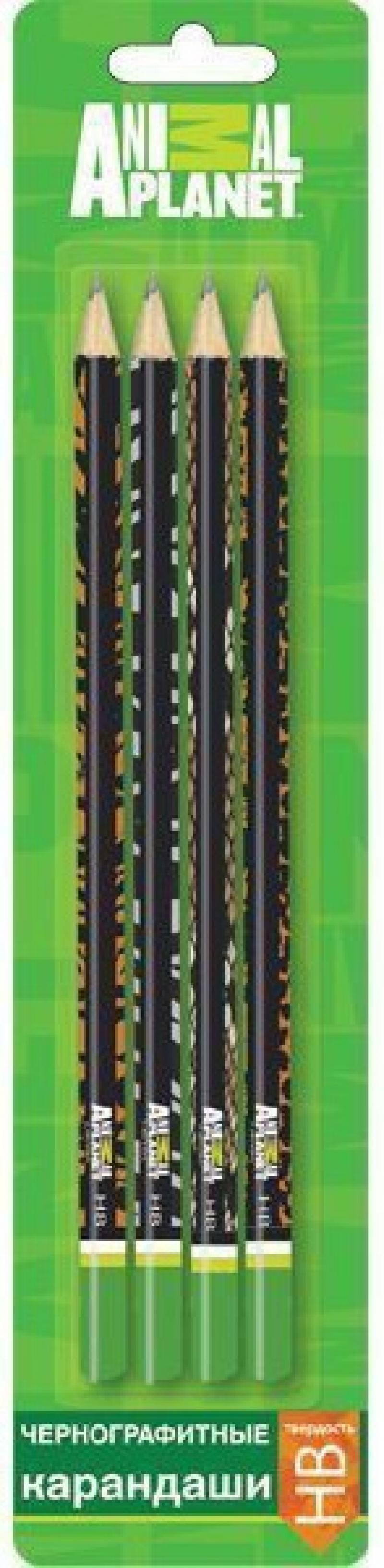 Карандаши чернографитные Action! Animal Planet 4 шт 180 мм AP-ABP115/4 AP-ABP115/4 compatible new a4431 print head for avery dennison ap5 4 ap 5 4 barcode printer 305dpi