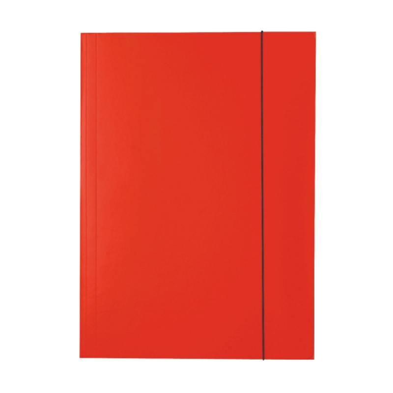 Папка на резинках ESSELTE, ф.А4, лакированный картон (400г/м2), красная 13436 папка esselte на 4х кольцах