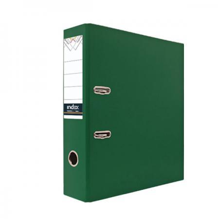 Папка-регистратор с покрытием PVC, 80 мм, А4, зеленая папка на 60 карм а4 proff 0 75 мм зеленая db60ab 03