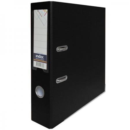 Папка-регистратор с покрытием PVC, 80 мм, А4, черная IND 8/50 PP BK папка регистратор с покрытием pvc 80 мм а4 черная ind 8 24 pvc чер