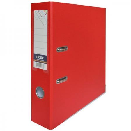 Папка-регистратор с покрытием PVC, 80 мм, А4, красная IND 8/50 PP RD папка регистратор с покрытием pvc 80 мм а4 синяя ind 8 50 pp bu