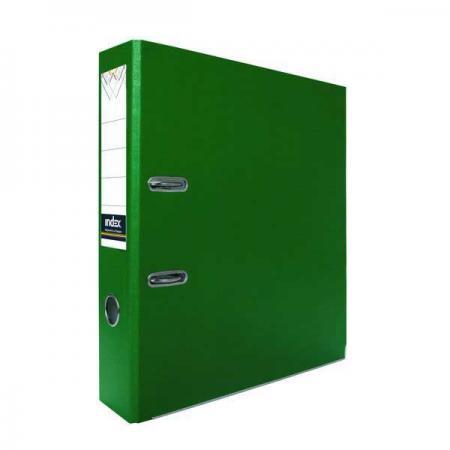 Папка-регистратор из ламинированного картона, 80 мм, А4, зеленая IND 8 LA ЗЕЛ папка на 60 карм а4 proff 0 75 мм зеленая db60ab 03