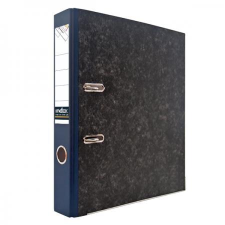Папка-регистратор под мрамор, 50 мм, А4, корешок синий IND 5 BH СИН/50 папка регистратор aro мрамор 50 мм