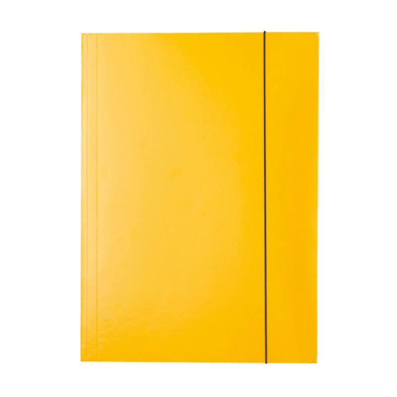 Папка на резинках ESSELTE, ф.А4, лакированный картон (400г/м2), желтый 13438