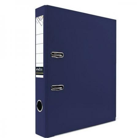 Папка-регистратор с покрытием PVC и металлической окантовкой, 50 мм, А4, темно-синяя IND 5/30 PVC NE папка proff а4 60 карманов синяя