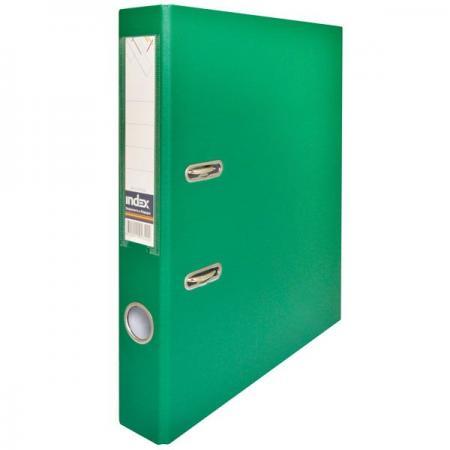 Папка-регистратор с покрытием PVC, 50 мм, А4, зеленая IND 5/50 PP GN папка на 60 карм а4 proff 0 75 мм зеленая db60ab 03