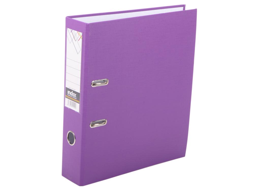 Папка-регистратор с покрытием PVC, 80 мм, А4, фиолетовая IND 8/24 PVC ФИОЛ папка регистратор с покрытием pvc 80 мм а4 черная ind 8 24 pvc чер