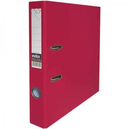Папка-регистратор с покрытием PVC, 50 мм, А4, бордовая IND 5/50 PP MN