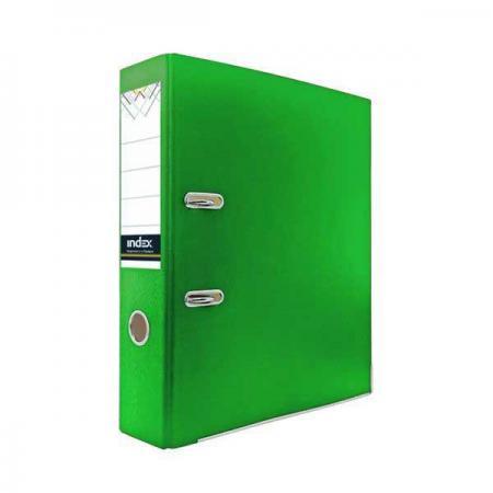 Папка-регистратор из цветного картона, 50 мм, А4, зеленая IND 5 ECO ЗЕЛ/30 папка регистратор из ламинированного картона 50 мм а4 черная ind 5la bl ds