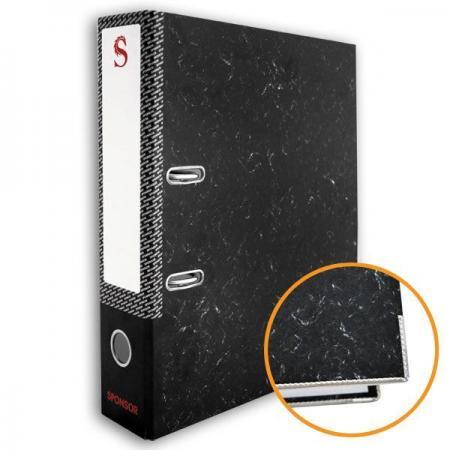 Папка-регистратор 80 мм, черный мрамор, с метал.уголком SPR 8/24 L цены онлайн