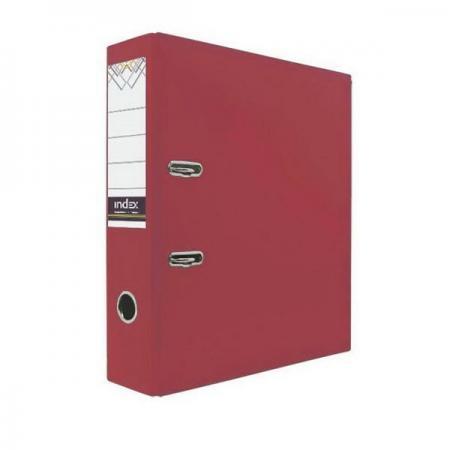 Папка-регистратор с покрытием PVC, 80 мм, А4, красная IND 8/24 PVC КР папка регистратор с покрытием pvc 80 мм а4 черная ind 8 24 pvc чер