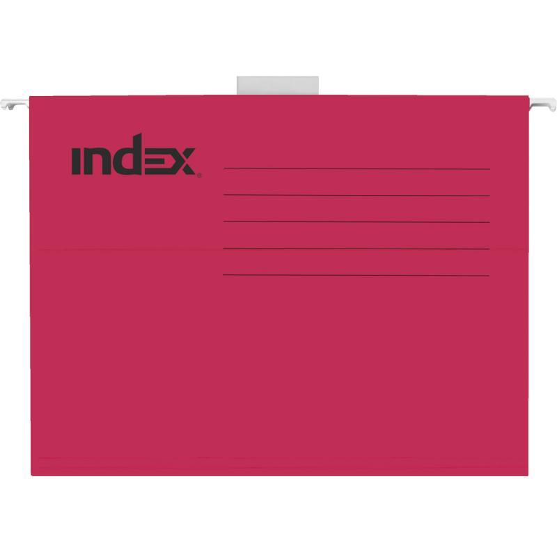 Подвесная папка INDEX, ф. А4, красная, с табулятором ISF01/A4/RD