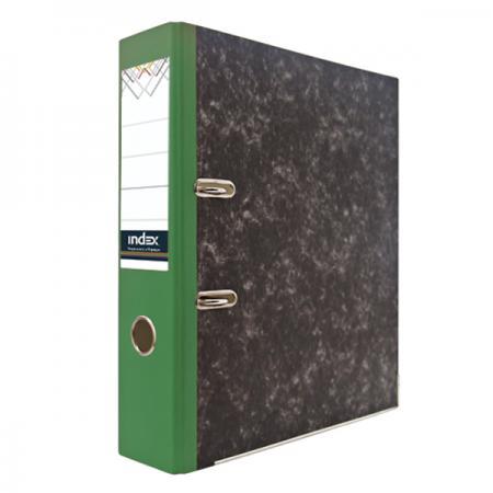 Папка-регистратор под мрамор, 80 мм, А4, корешок зеленый IND 8 BH ЗЕЛ/50 ol 9535 sbфигура мал сова писатель sealmark