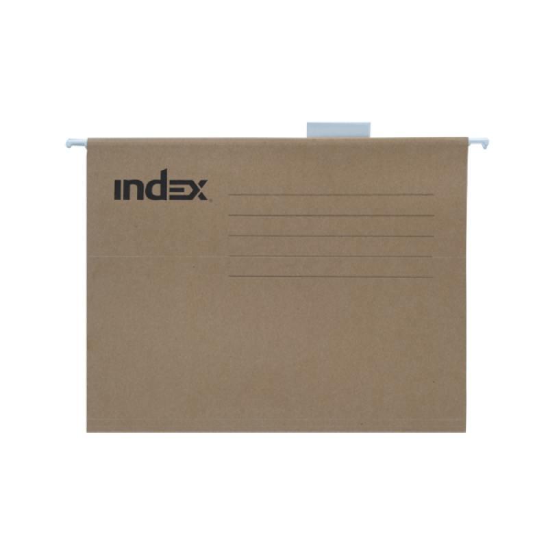 Подвесная папка INDEX, ф. А4, крафт-картон, с табулятором ISF03/A4/KR